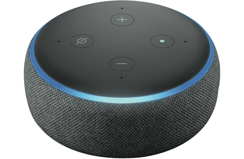 This is a picture of an Amazon Echo Dot Alexa